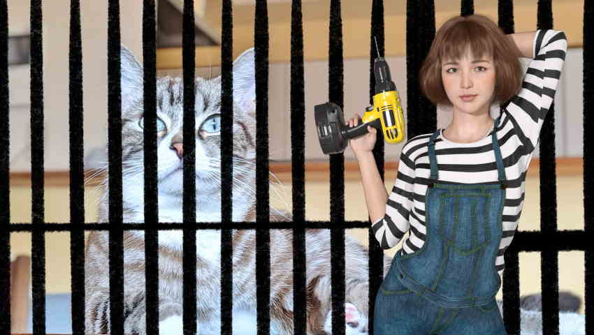 猫脱走防止扉自作DIY